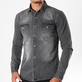 /achat-chemises-manches-longues/mtx-chemise-jean-manches-longues-pb013-noir-196463.html