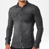 /achat-chemises-manches-longues/mtx-chemise-jean-manches-longues-pb008-noir-196469.html