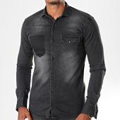 /achat-chemises-manches-longues/mtx-chemise-jean-manches-longues-pb009-noir-196484.html