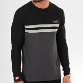 /achat-t-shirts-manches-longues/superdry-tee-shirt-manches-longues-ol-colour-block-m6000007a-noir-gris-anthracite-chine-196591.html