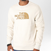 /achat-sweats-col-rond-crewneck/the-north-face-sweat-crewneck-drew-peak-2zwr-blanc-casse-marron-196760.html