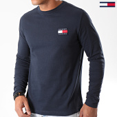 /achat-t-shirts-manches-longues/tommy-hilfiger-jeans-tee-shirt-manches-longues-badge-6958-bleu-marine-196620.html