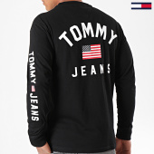 /achat-t-shirts-manches-longues/tommy-hilfiger-jeans-tee-shirt-manches-longues-us-flag-7066-noir-196638.html