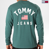 /achat-t-shirts-manches-longues/tommy-jeans-tee-shirt-manches-longues-us-flag-7066-vert-sapin-196639.html
