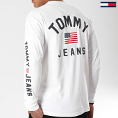 /achat-t-shirts-manches-longues/tommy-hilfiger-jeans-tee-shirt-manches-longues-us-flag-7066-blanc-196643.html