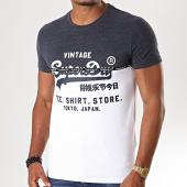 /achat-t-shirts/superdry-tee-shirt-shop-split-panel-m1000034b-bleu-marine-chine-blanc-196875.html