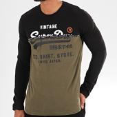 /achat-t-shirts-manches-longues/superdry-tee-shirt-manches-longues-shop-split-panel-m6000016a-noir-vert-kaki-196940.html