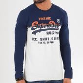 /achat-t-shirts-manches-longues/superdry-tee-shirt-manches-longues-shop-split-panel-m6000016a-ecru-bleu-marine-196941.html