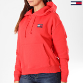 /achat-sweats-capuche/tommy-hilfiger-jeans-sweat-capuche-femme-tommy-badge-6815-rouge-196872.html