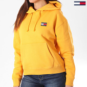 /achat-sweats-capuche/tommy-hilfiger-jeans-sweat-capuche-femme-tommy-badge-6815-jaune-196873.html