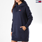 /achat-robes/tommy-hilfiger-jeans-robe-sweat-capuche-femme-tommy-badge-7234-bleu-marine-197002.html