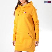 /achat-robes/tommy-hilfiger-jeans-robe-sweat-capuche-femme-tommy-badge-7234-jaune-197004.html