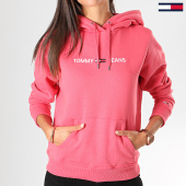 /achat-sweats-capuche/tommy-hilfiger-jeans-sweat-capuche-femme-clean-linear-logo-7344-rose-197005.html