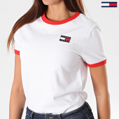 /achat-t-shirts/tommy-hilfiger-jeans-tee-shirt-femme-badge-ringer-7226-blanc-197007.html