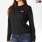 /achat-t-shirts-manches-longues/tommy-hilfiger-jeans-tee-shirt-femme-manches-longues-tommy-badge-7433-noir-197008.html