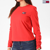 /achat-t-shirts-manches-longues/tommy-hilfiger-jeans-tee-shirt-femme-manches-longues-tommy-badge-7433-rouge-197009.html