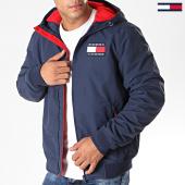/achat-vestes/tommy-jeans-veste-zippee-capuche-padded-nylon-7120-bleu-marine-197148.html