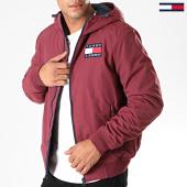 /achat-vestes/tommy-jeans-veste-zippee-capuche-padded-nylon-7120-bordeaux-197149.html