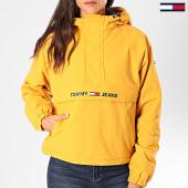 /achat-vestes/tommy-hilfiger-jeans-veste-outdoor-femme-padded-popover-7449-jaune-197160.html