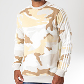 /achat-sweats-col-rond-crewneck/adidas-sweat-crewneck-camouflage-a-bandes-ed6982-beige-marron-blanc-197348.html