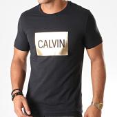 /achat-t-shirts/calvin-klein-tee-shirt-slim-3498-noir-dore-197485.html