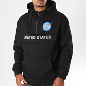 /achat-sweats-col-zippe/nasa-sweat-col-zippe-capuche-mt1164-noir-197452.html