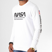 /achat-sweats-col-rond-crewneck/nasa-sweat-crewneck-mt659-blanc-197470.html