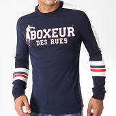 /achat-t-shirts-manches-longues/boxeur-des-rues-tee-shirt-manches-longues-a-bandes-20160l-bleu-marine-197671.html