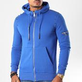 /achat-sweats-zippes-capuche/ikao-sweat-capuche-zippe-avec-clous-f628-bleu-roi-197505.html