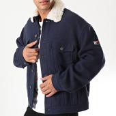 /achat-vestes/tommy-hilfiger-jeans-veste-col-fourrure-wool-trucker-7189-bleu-marine-beige-197612.html