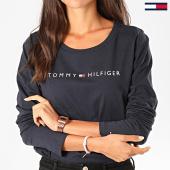 /achat-t-shirts-manches-longues/tommy-hilfiger-jeans-tee-shirt-manches-longues-femme-logo-1910-bleu-marine-fonce-197676.html
