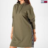 /achat-robes/tommy-hilfiger-robe-sweat-capuche-femme-a-bandes-1960-vert-kaki-197677.html