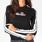 /achat-t-shirts-manches-longues/ellesse-tee-shirt-manches-longues-femme-a-bandes-orsola-sgc07382-noir-197733.html