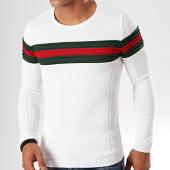 /achat-pulls/lbo-pull-avec-bande-vert-et-rouge-jum-29-blanc-197726.html