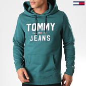 /achat-sweats-capuche/tommy-hilfiger-jeans-sweat-capuche-essential-1985-logo-7025-vert-197803.html