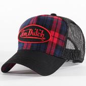 /achat-trucker/von-dutch-casquette-trucker-carb-2-carreaux-rouge-bleu-marine-noir-197813.html