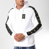 /achat-sweats-zippes-capuche/emporio-armani-sweat-zippe-capuche-a-bandes-6g1mg6-1j07z-blanc-dore-198022.html