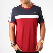 /achat-t-shirts/fila-tee-shirt-anastas-687238-bordeaux-bleu-marine-blanc-197911.html