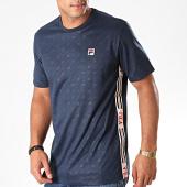 /achat-t-shirts/fila-tee-shirt-a-bandes-nariman-aop-687302-bleu-marine-197924.html