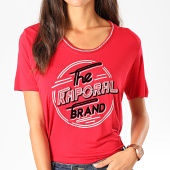 /achat-t-shirts/kaporal-tee-shirt-femme-week-rouge-argente-197977.html
