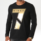 /achat-t-shirts-manches-longues/7-binks-tee-shirt-manches-longues-seven-noir-dore-198055.html
