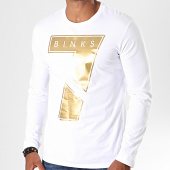 /achat-t-shirts-manches-longues/7-binks-tee-shirt-manches-longues-seven-blanc-dore-198056.html