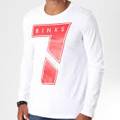 /achat-t-shirts-manches-longues/7-binks-tee-shirt-manches-longues-seven-blanc-rouge-198057.html