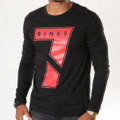 /achat-t-shirts-manches-longues/7-binks-tee-shirt-manches-longues-seven-noir-rouge-198058.html