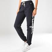 /achat-pantalons-joggings/champion-pantalon-jogging-femme-elastic-cuff-pant-112151-bleu-marine-198127.html