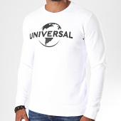 /achat-sweats-col-rond-crewneck/universal-sweat-crewneck-logo-mono-blanc-noir-198064.html