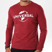 /achat-sweats-col-rond-crewneck/universal-sweat-crewneck-logo-mono-bordeaux-blanc-198066.html