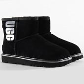 /achat-bottes-boots/ugg-bottines-femme-classic-mini-ugg-rubber-logo-1110087-black-metallic-198079.html