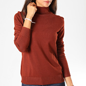 /achat-pulls-col-roule/deeluxe-pull-col-roule-femme-basic-marron-198307.html