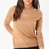 /achat-pulls/deeluxe-pull-col-roule-femme-basic-camel-198309.html